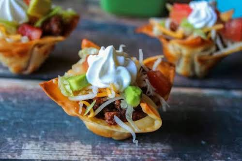 "Mini Mexican Taco Bites ""Every time I make these I have to..."