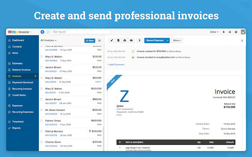 Zoho Invoice - G Suite Marketplace