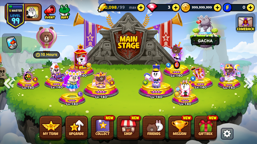 LINE Rangers - a tower defense RPG w/Brown & Cony! screenshots 2