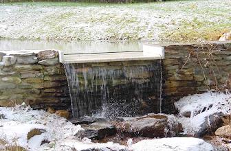 Photo: Waterfall in early winter