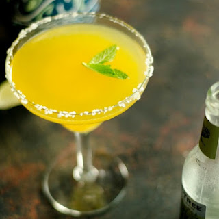 Mango Margaritas with Ginger and Mint.