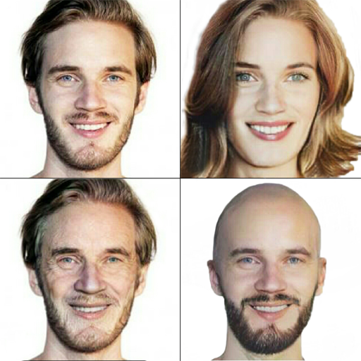 Male to female photo changer