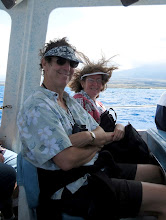 Photo: Howard and Laurel on our whale watching trip