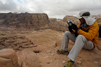 Photo: Guidebook break at the top of the trail