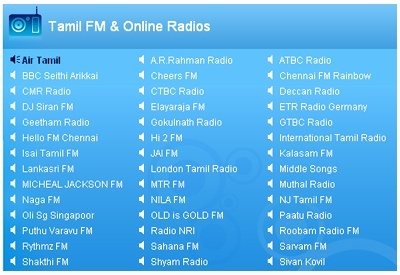 Tamil FM and Online Radios