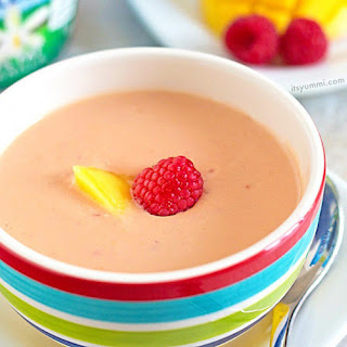 Chilled Mango Raspberry Soup