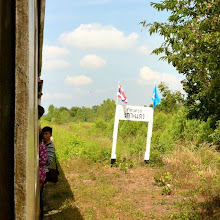 Photo: 3rd class train from Bangkok to Aranyaprathet.  Yes, this is also a train station.  Albeit a small one.