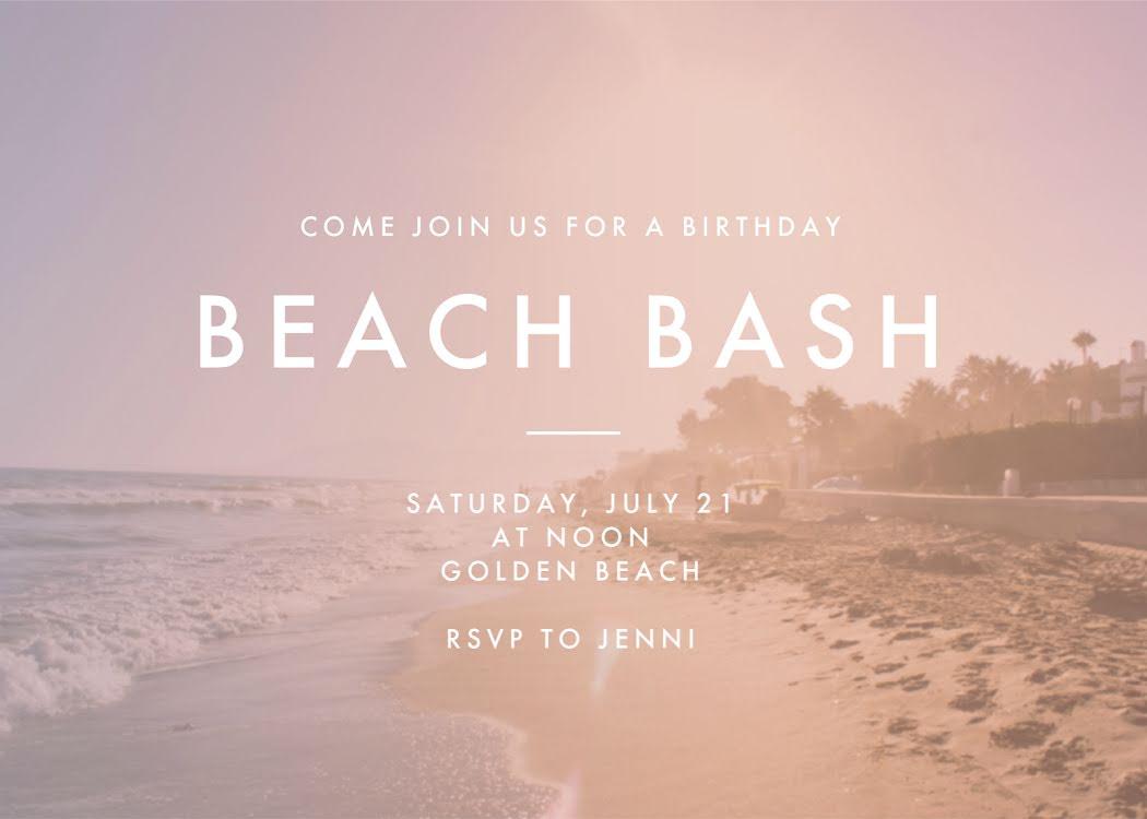 Beach Bash - Photo Card Template