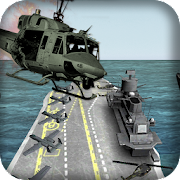 Frontline airforce shooting gunner helicopter 3d