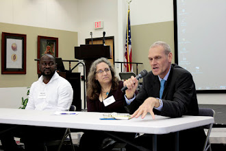 Photo: Daniel Debouk answers an attendee's question on Tuesday, Sept. 20, 2016.