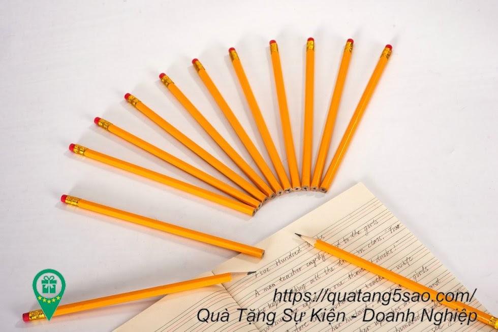 Bút chì in ấn theo yêu cầu giá rẻ, tùy chọn gọt sẵn hoặc không