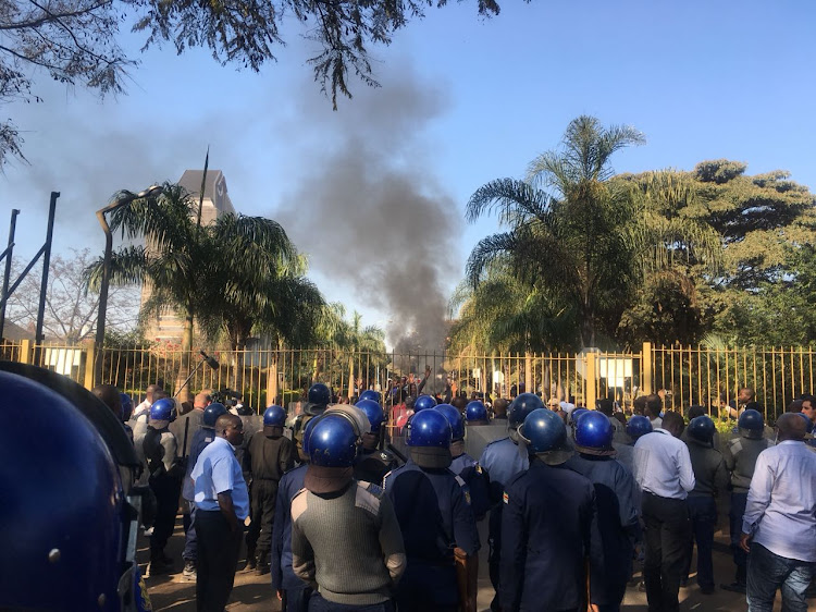 Police fired teargas at MDC Alliance supporters on Wednesday as tensions escalated in Harare.