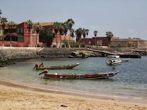 Photo: Fishing boats at Gorée island