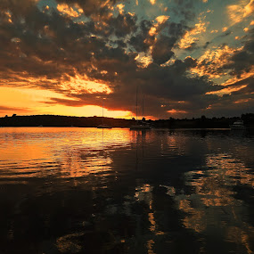 by Marica Popovic - Landscapes Cloud Formations ( sunsets travel waterscape )