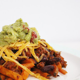 Healthy Chilli Cheese Fries.