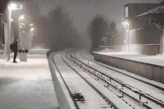 Photo: Waiting for T-bane (Metro in Oslo) in snow ...  #PlusPhotoExtract curated by +Jarek Klimek