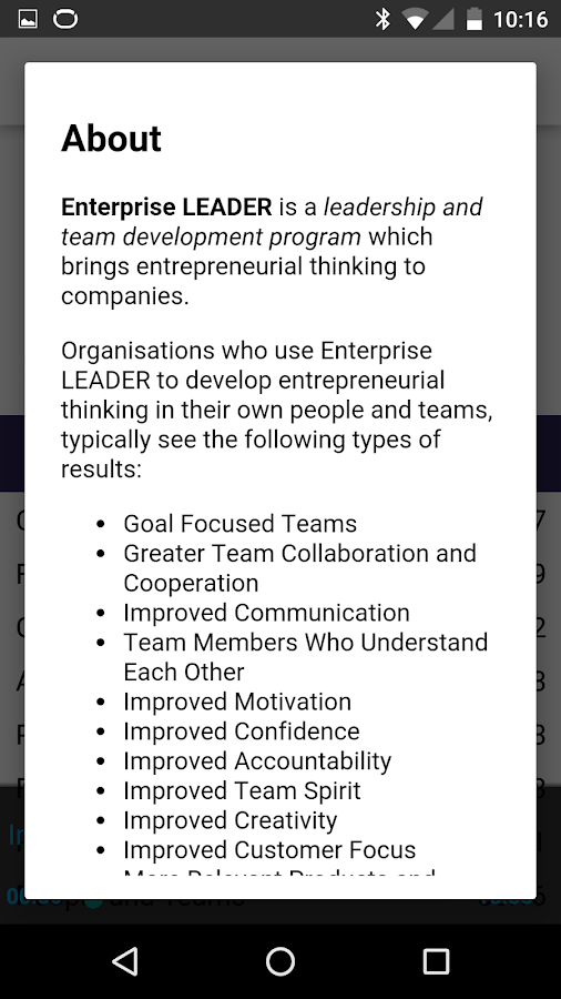 EnterpriseLEADER: Full Program- screenshot
