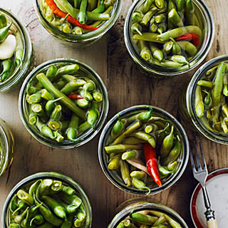 Ginger and Chile Pickled Green Beans
