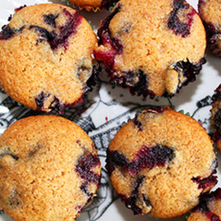 Healthy Blueberry Mini Muffins.