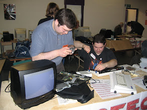 Photo: Andrew swapping a faulty floppy drive
