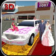 مدينة ليمو الزفاف محاكاة سيارة