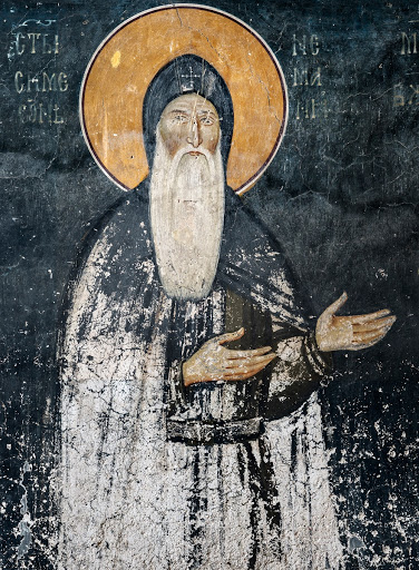 Venerable Simeon, The Church of Saints Joachim and Ana, Studenica Monastery