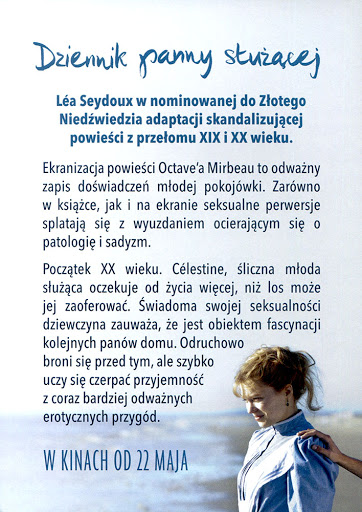 Tył ulotki filmu 'Dziennik Panny Służącej'