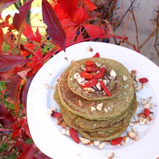 Vegan Matcha Pancakes (gluten-free)