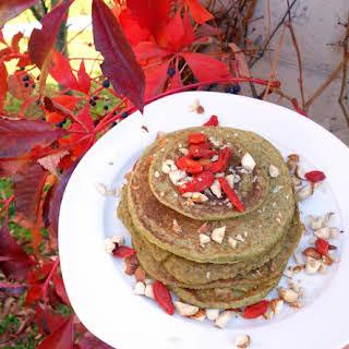 Vegan Matcha Pancakes (gluten-free).
