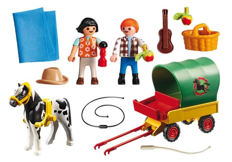 Contenido de Playmobil® 6948 Picnic con Poni y Carro