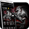 3d Rose Silver Dragon Theme icon