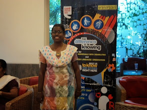 Photo: Self Advocete Benu Zafeen shares her views at CCD Chennaias a part of our 2012 World Disability Day Celebrations.