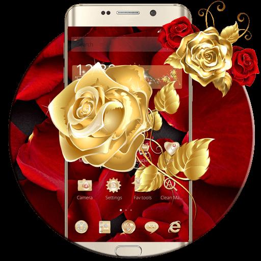 Golden Rose Wallpaper