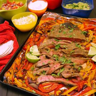 Fajita Flank Steak with Peppers & Onion