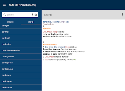 Oxford French Dictionary- screenshot thumbnail