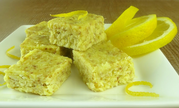 Lemon-Ginger Coconut Bars (Low-Carb, Dairy & Gluten-Free) Recept ...