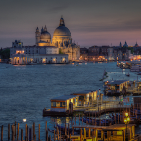 by John Walton - Buildings & Architecture Public & Historical ( water, church, venice,  )