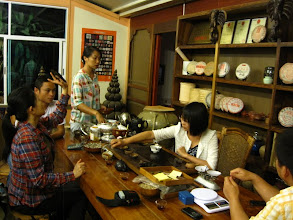 Photo: Drink: After eating we return to the Tong Qing Hao owners' house for more tea tasting.