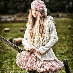 My Colours by Jan Kraft - Babies & Children Child Portraits ( girl autum colours hair dress skirt nature norway location )