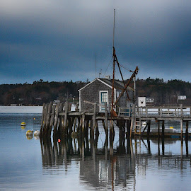 On The Bay by Lorraine D.  Heaney - Buildings & Architecture Decaying & Abandoned (  )