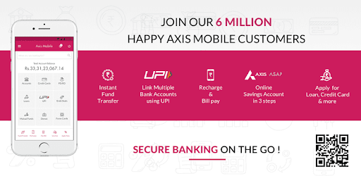 Axis Mobile- Fund Transfer,UPI,Recharge & Payment app (apk) free download for Android/PC/Windows screenshot