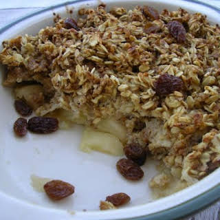 Low-Fat Healthy Apple Crumble.