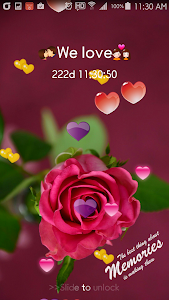 Heart Keypad Lock Screen screenshot 3