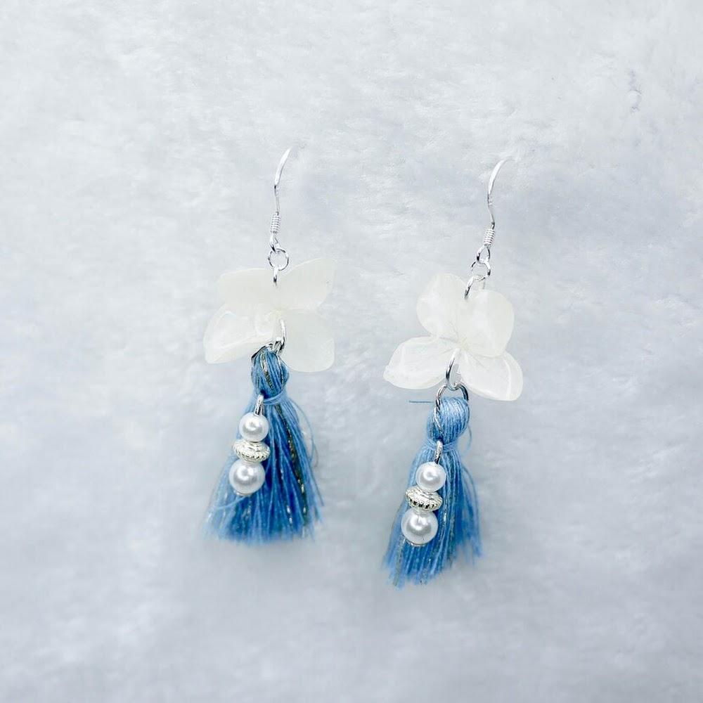 [現貨/stock] 尖沙咀寄賣中 流蘇款925純銀繡球花耳環 925 Sterling Silver Hydrangea Earrings