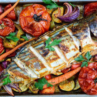 Baked Fish With Vegetables.