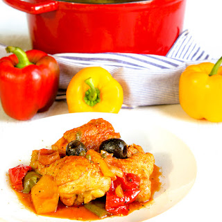 ITALIAN CHICKEN STEW WITH BELL PEPPERS - pollo ai peperoni.