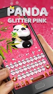 Glitter Panda Emoji Keyboard Theme - náhled