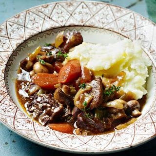 Rich Beef And Mushroom Stew.