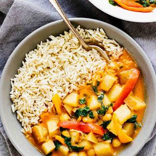 Easy Spicy Vegan Potato Curry.