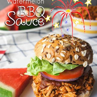 Watermelon BBQ Sauce + Crockpot BBQ Chicken